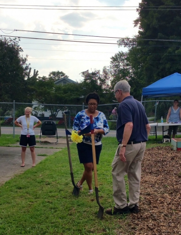 Inskip Community Garden Ribbon Cutting  August 27, 2016