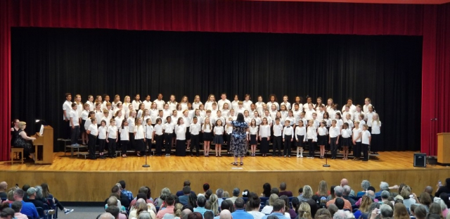 Elementary Honors Choir, Conducted by Christy Bock, April 28, 2019