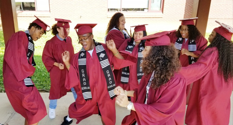 Fulton High School Senior Stroll at Christenberry Elementary, May 16, 2019