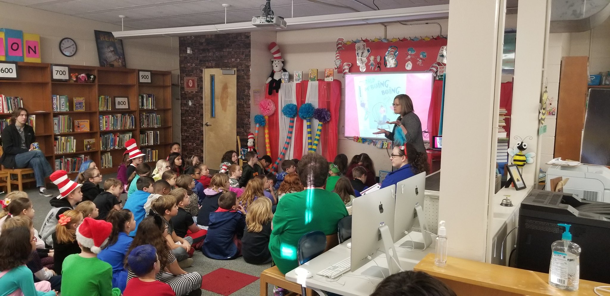 Jennifer Owen Reading to Third Grade at Sterchi Elementary, March, 2018